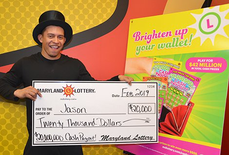 Hyattsville Player Finds Popular Scratch-off's First $20,000 Prize