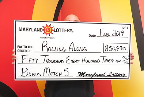 Thurmont Man 'Rolling Along' with Bonus Match 5 Top Prize