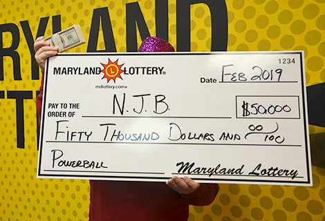 Self-Described as 'Lucky,' Ellicott City Powerball Player wins $50,004