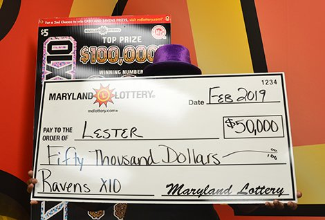 Ravens x10 Scratch-off Gives Loyal Fan a Touchdown Win