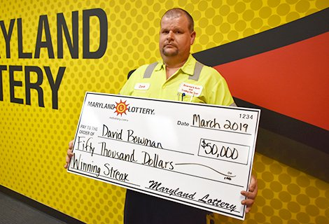 $50,000 Scratch-off Prize Helps Mechanic Repair His Win Record